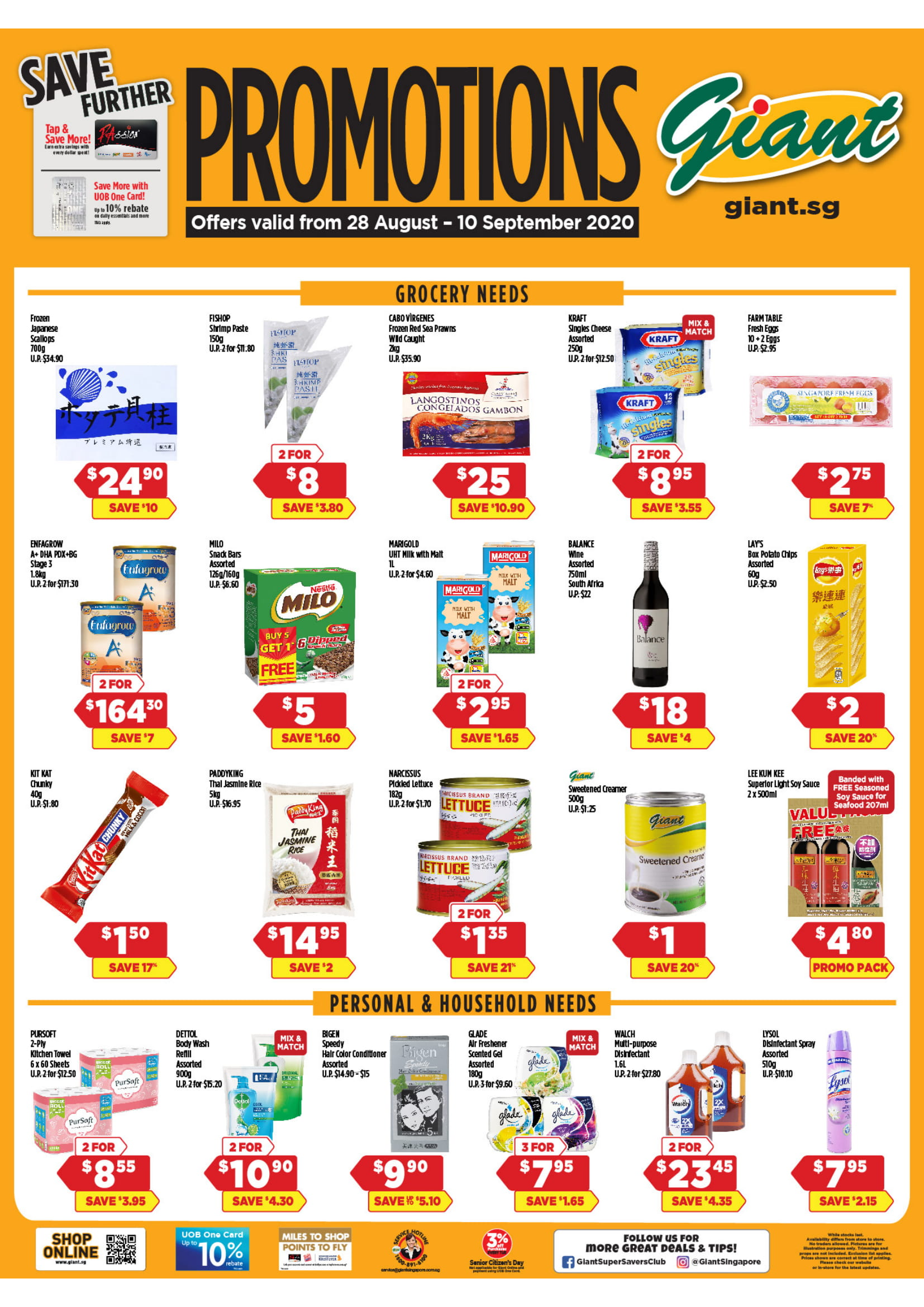 Giant promotions until 10 September 2020