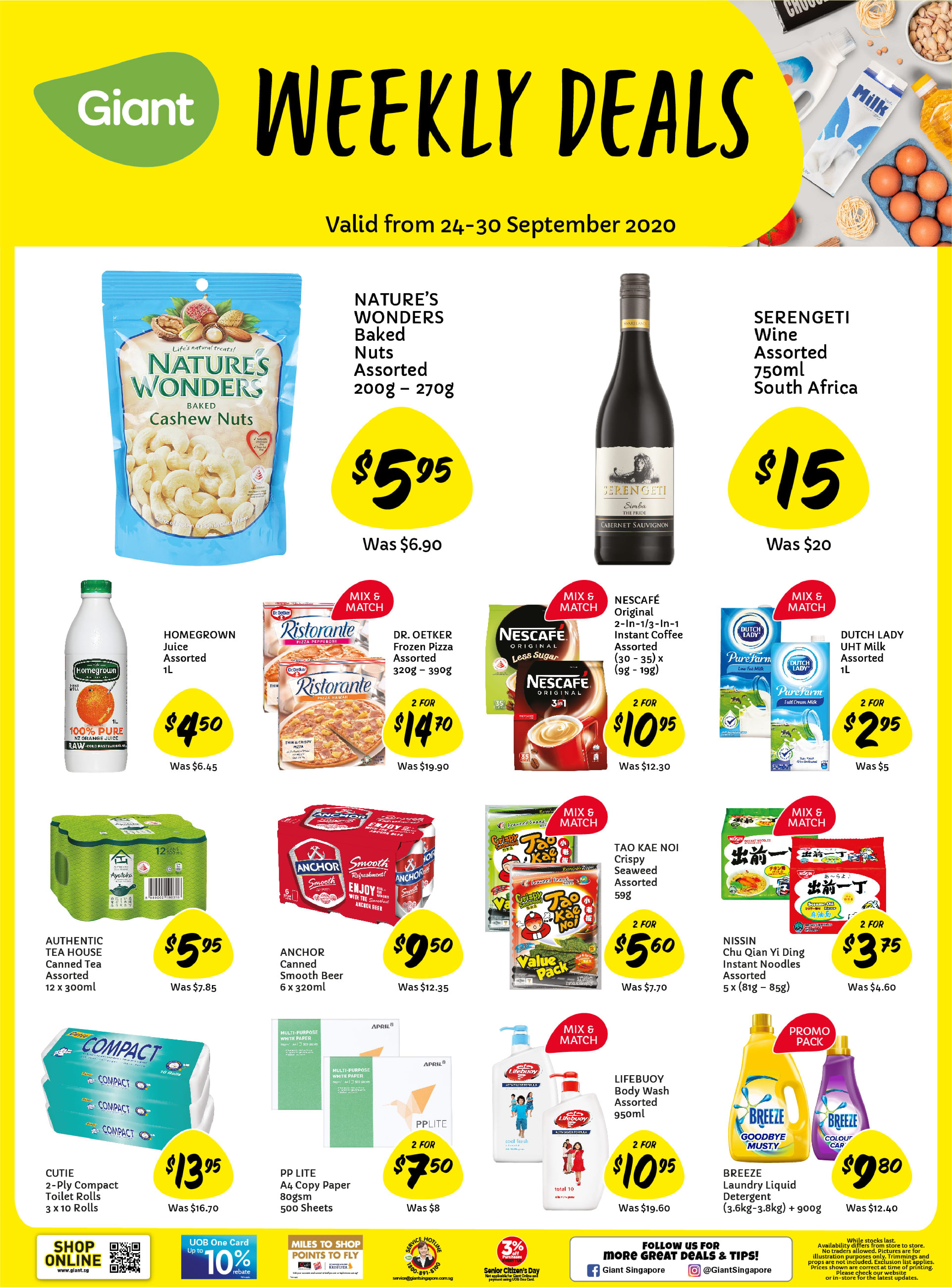 Giant weekly deals from now till 30 September 2020