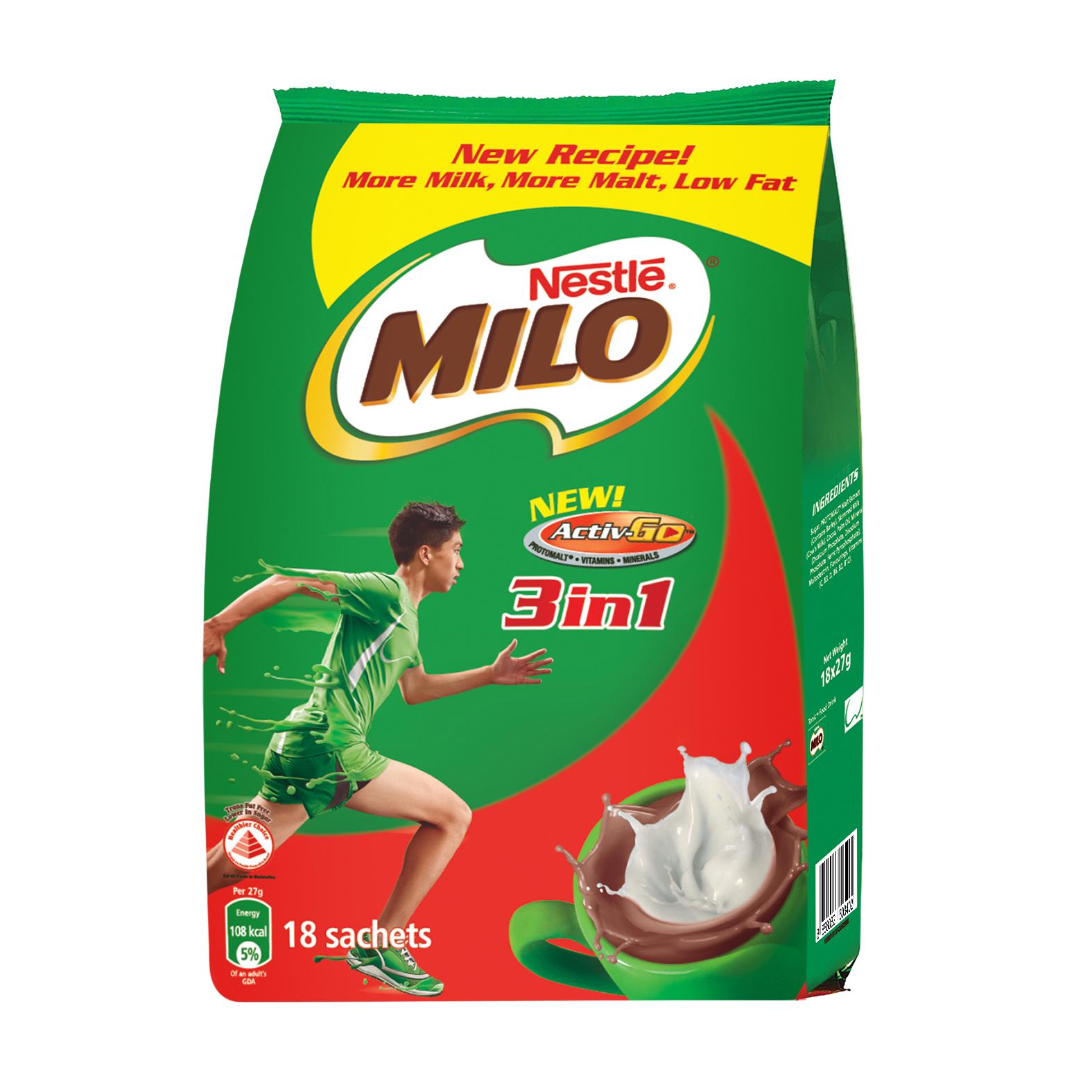 Milo Activ-Go 3-in-1 18s X 27g