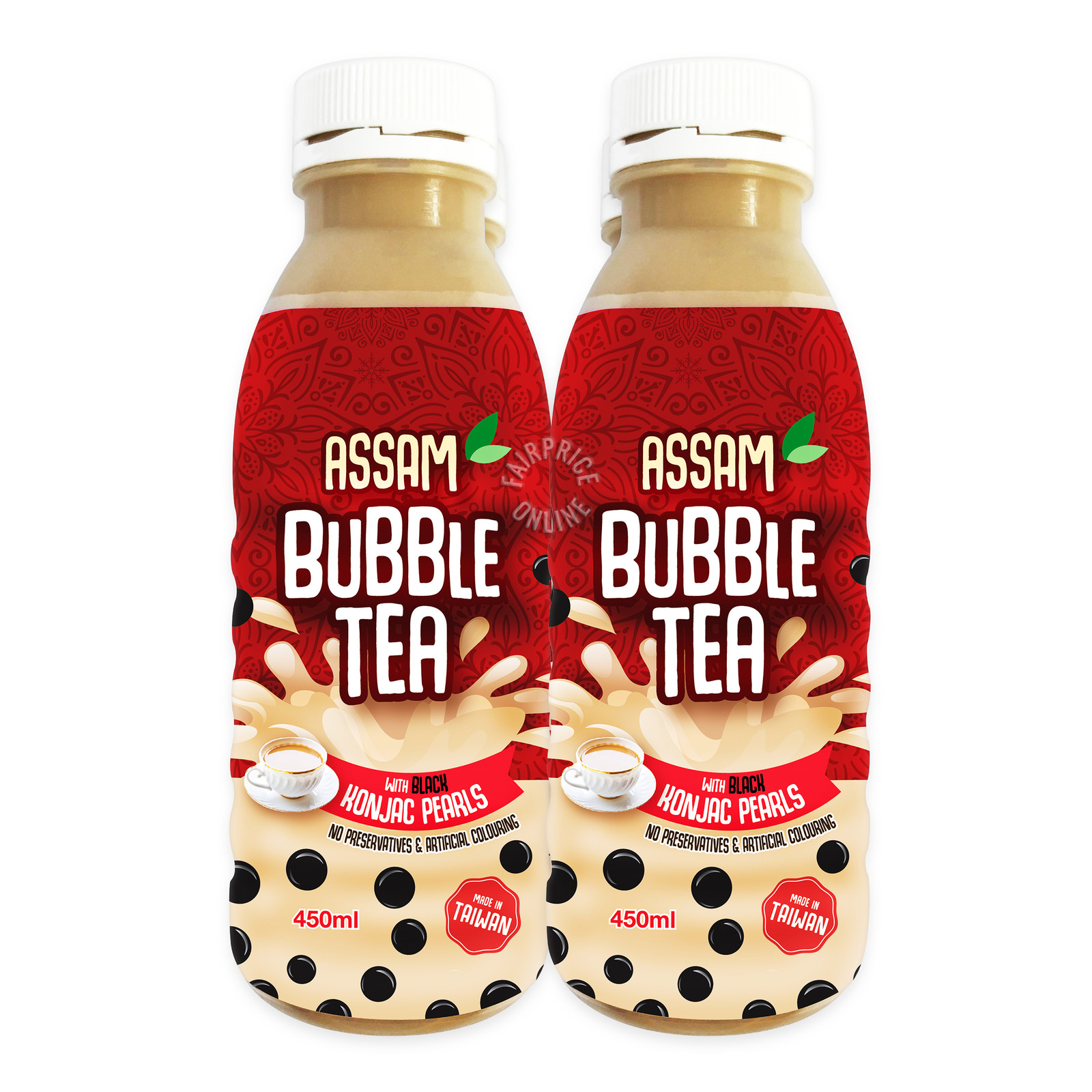 Polar Assam Bubble Tea Drink with Black Konjac Pearls