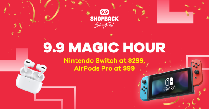 A year's worth of Bubble Tea, Apple Airpods at $99, and Nintendo Switch at $299 - The Ultimate Guide to ShopBack's 9.9 Sale!