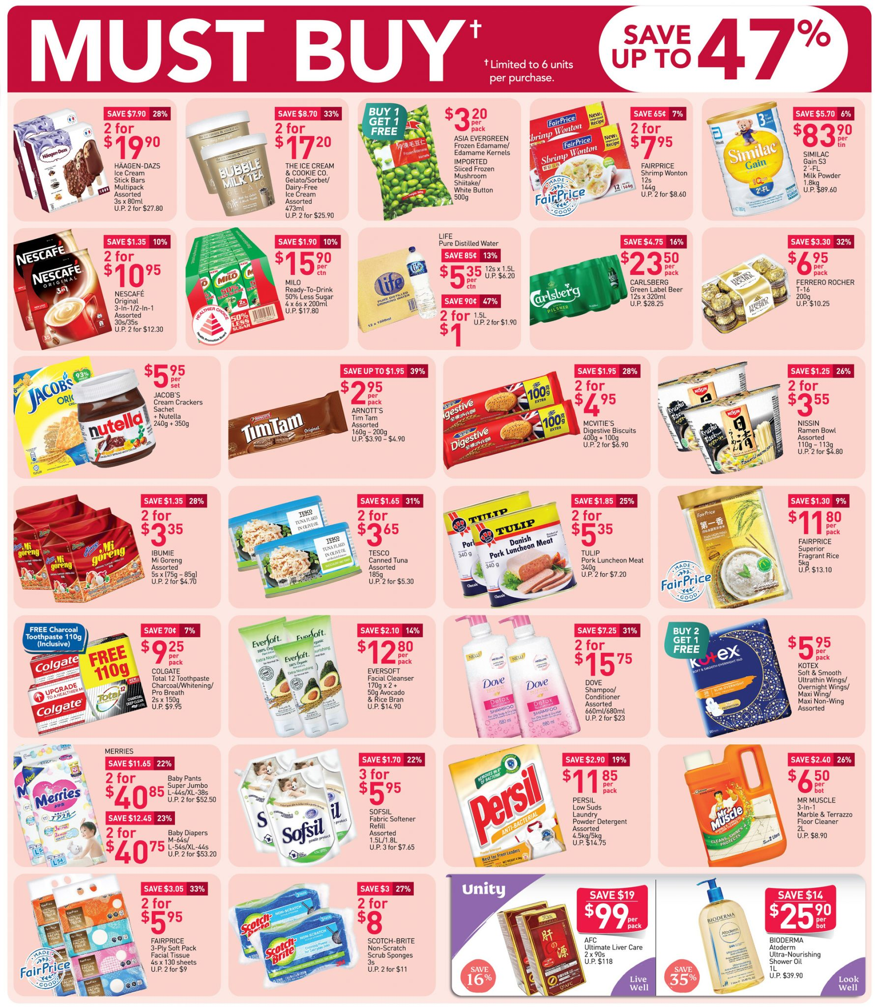 FairPrice must-buy items from now till 14 October 2020