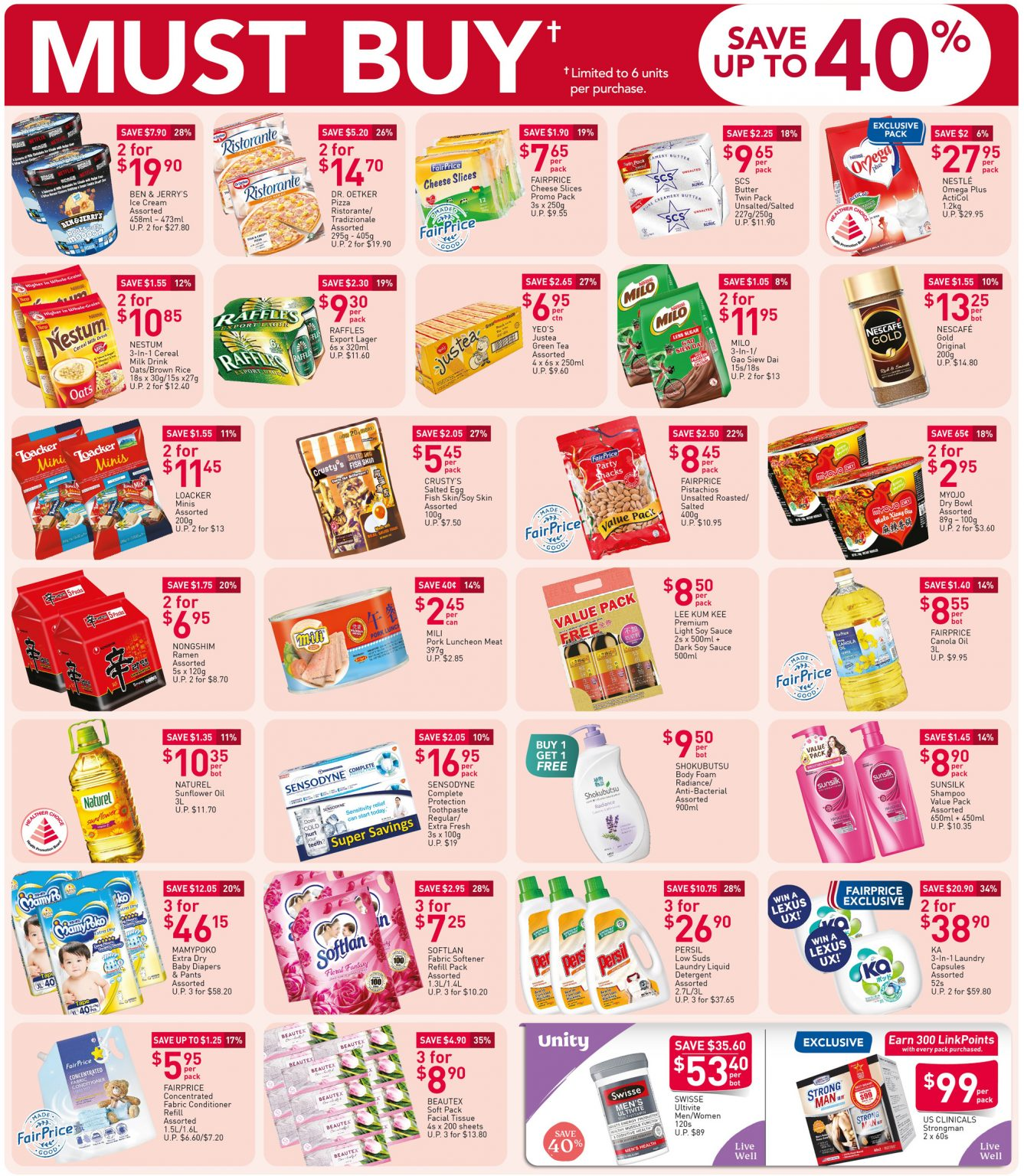 FairPrice must-buy items from now till 21 October 2020