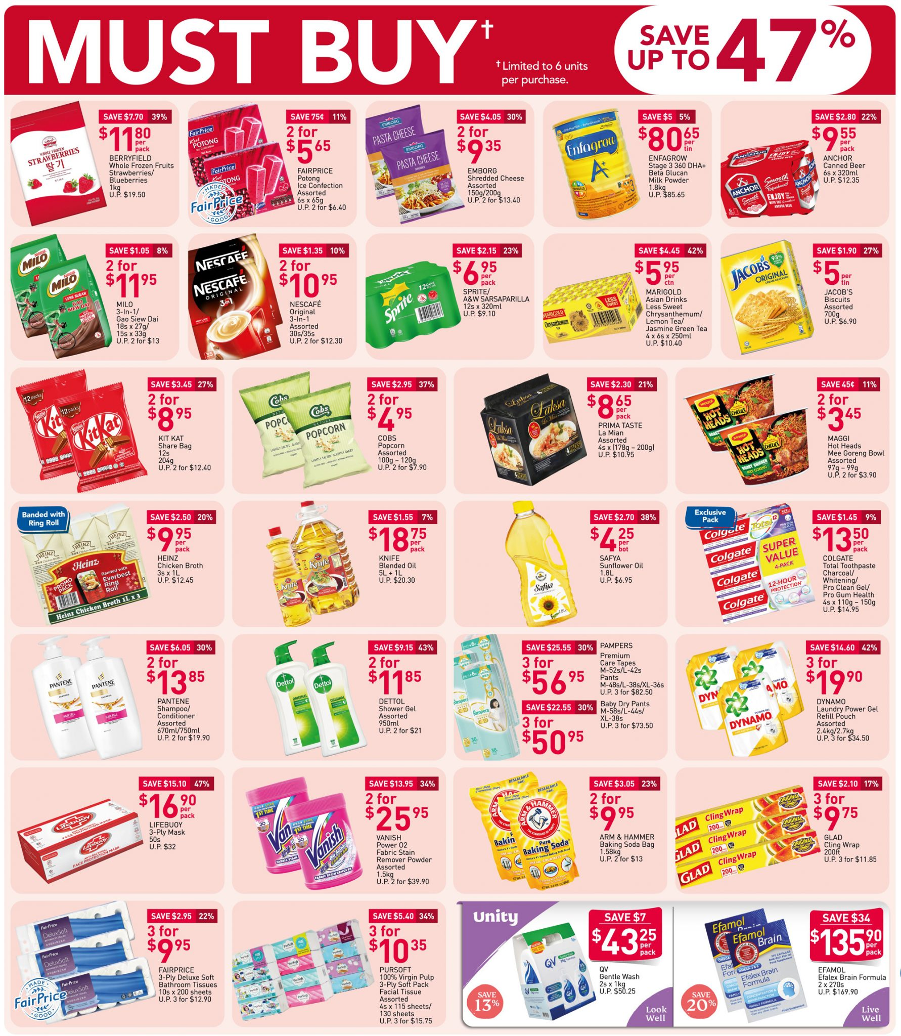FairPrice must-buy items from now will 4 November 2020
