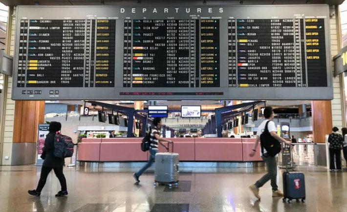 Singapore Changi Airport departure times