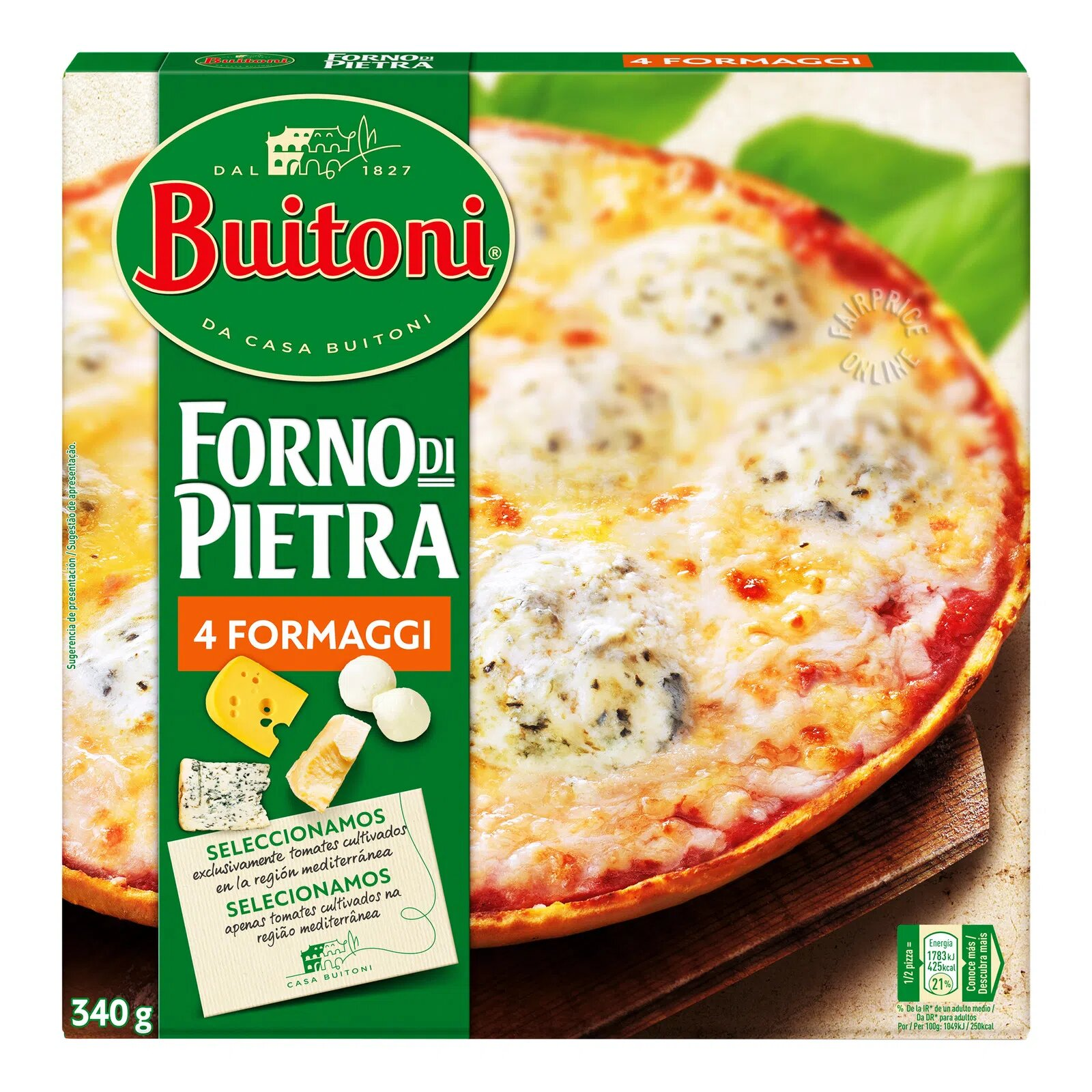 Buitoni Thin Crust Pizza - Four Cheese