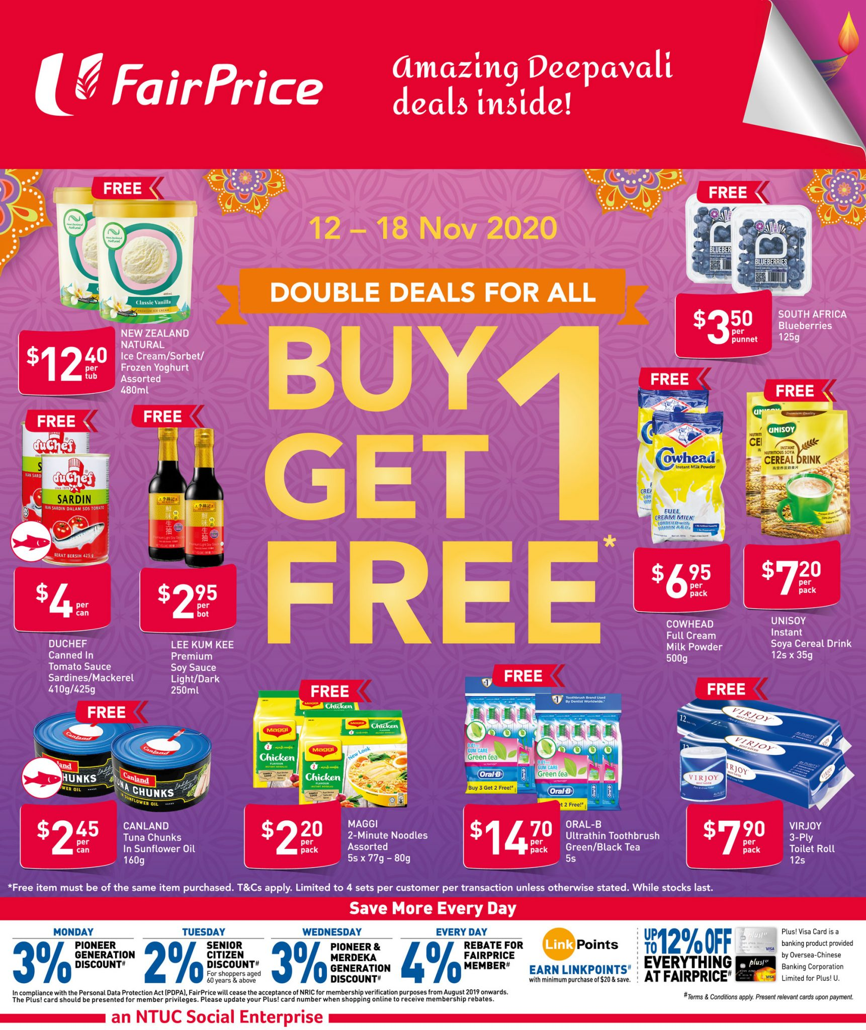FairPrice buy-1-get-1-free deals from now till 18 November 2020