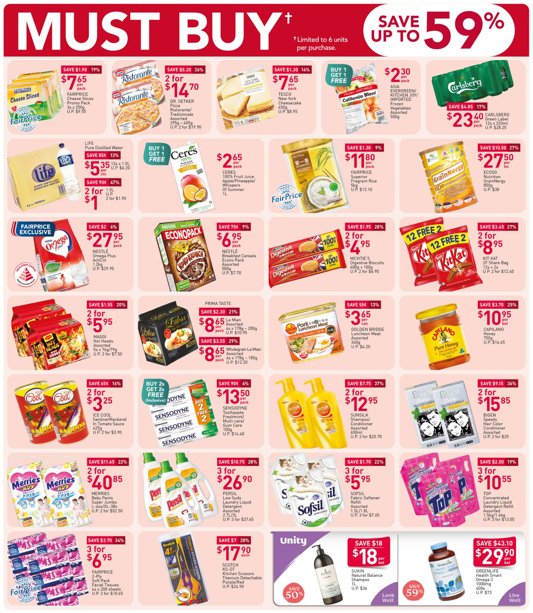 FairPrice must-buy items from now till 18 November 2020