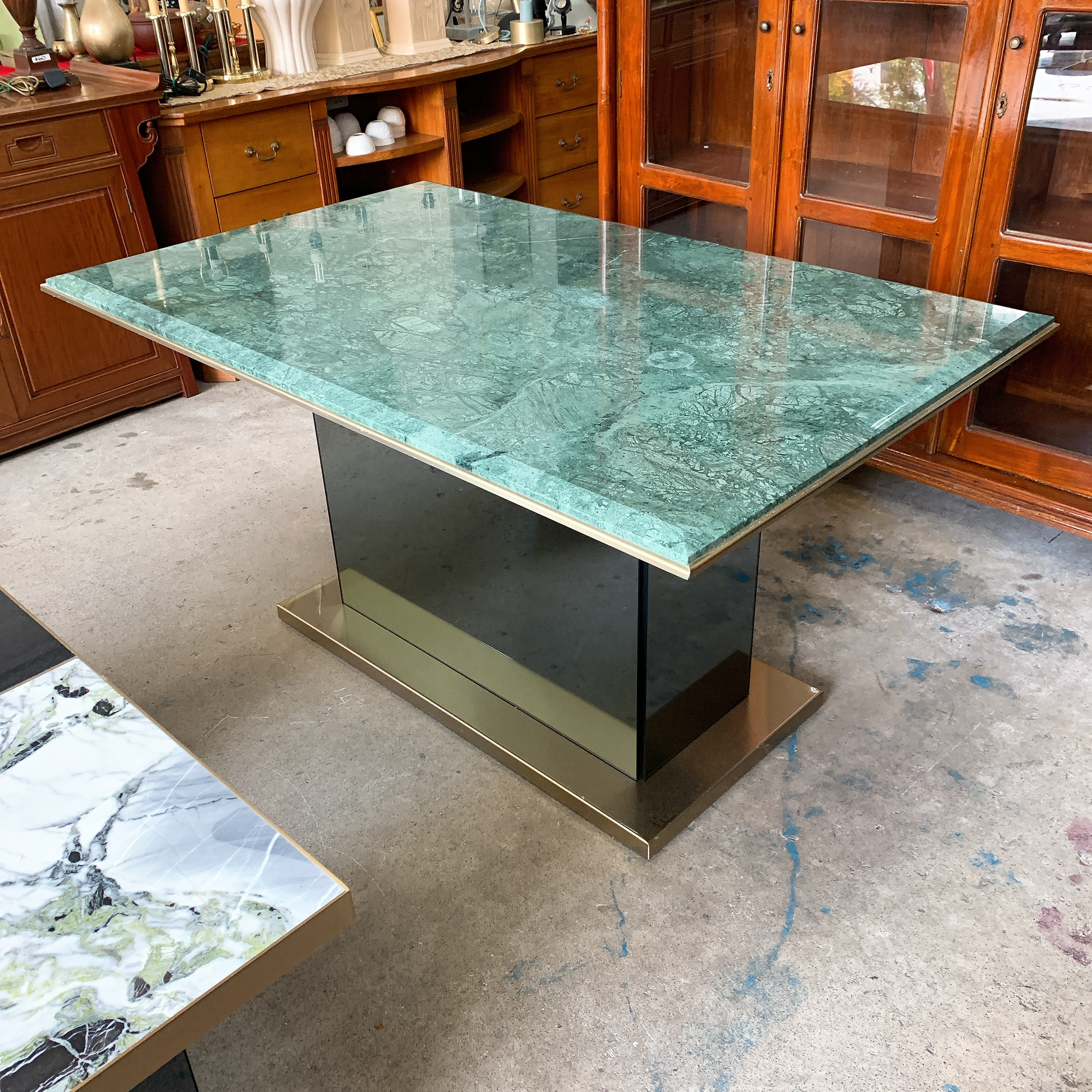 SF Green Marble Dining Table