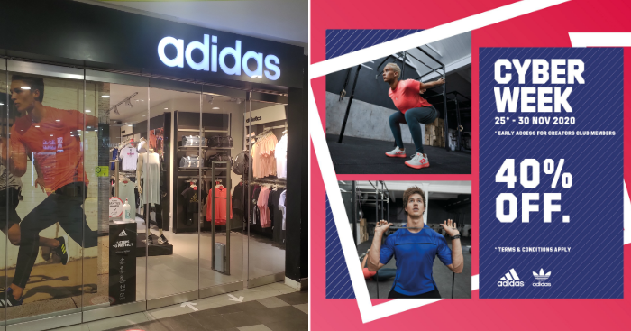 adidas offering 40% off storewide this