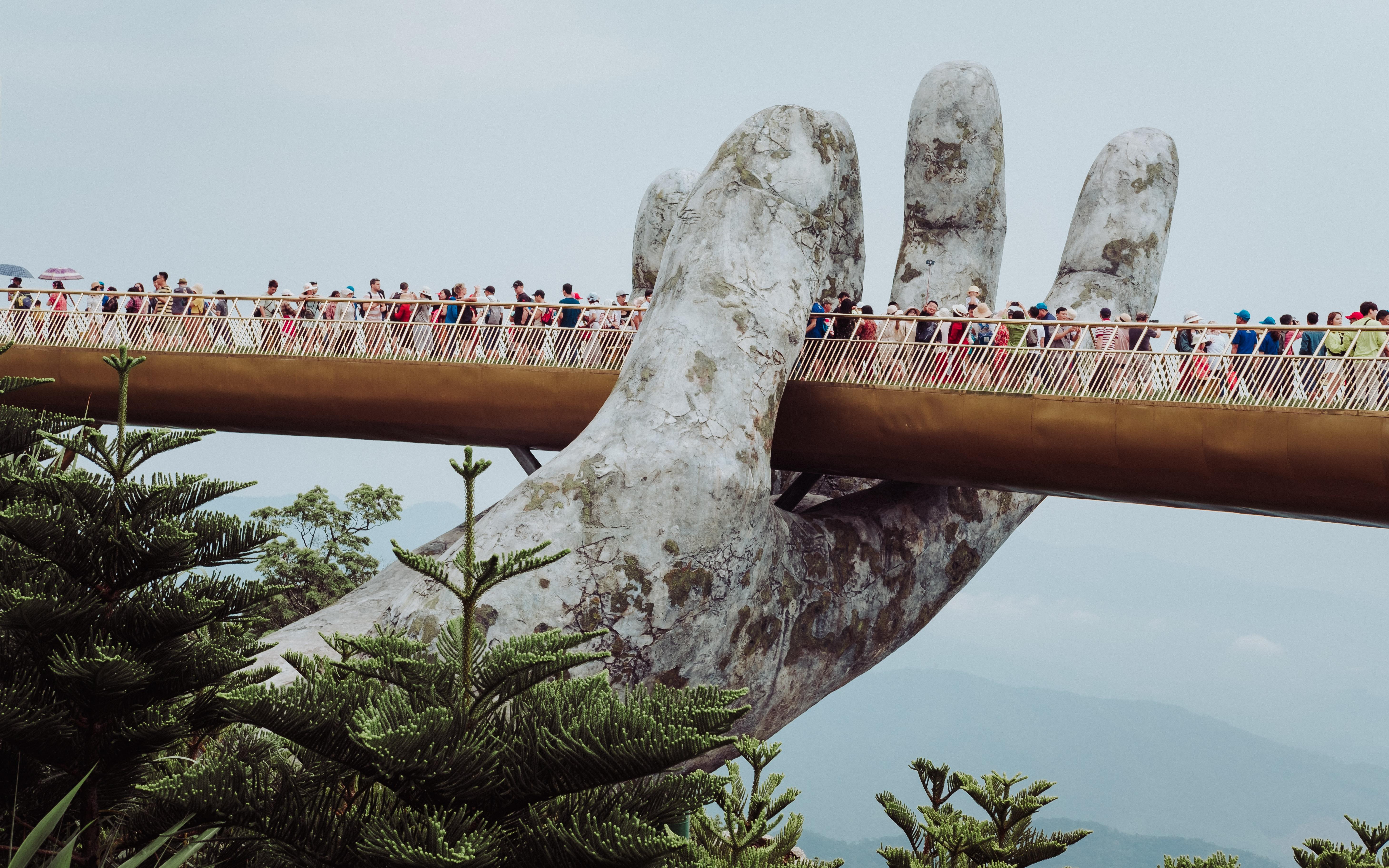 Golden Bridge on Ba Na Hills, Vietnam, Da Nang