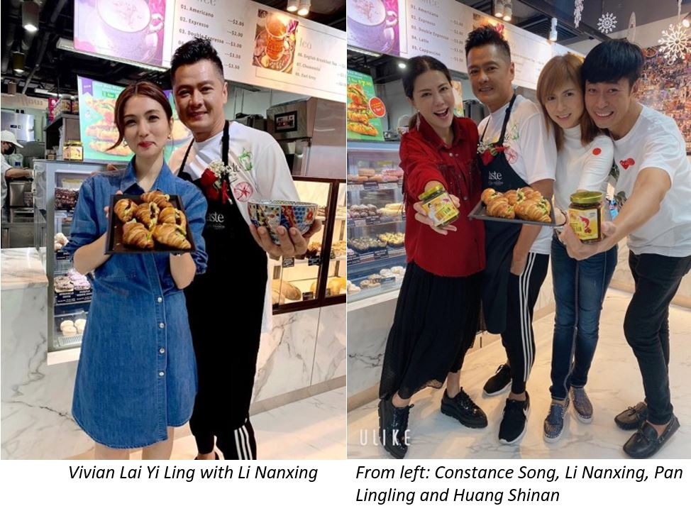 Celebrity Ah Ge Li Nanxing offers 1-for-1 Opening Specials this weekend (21 & 22 Nov) at Taste Gourmet Market and Bakers & Co. - 2