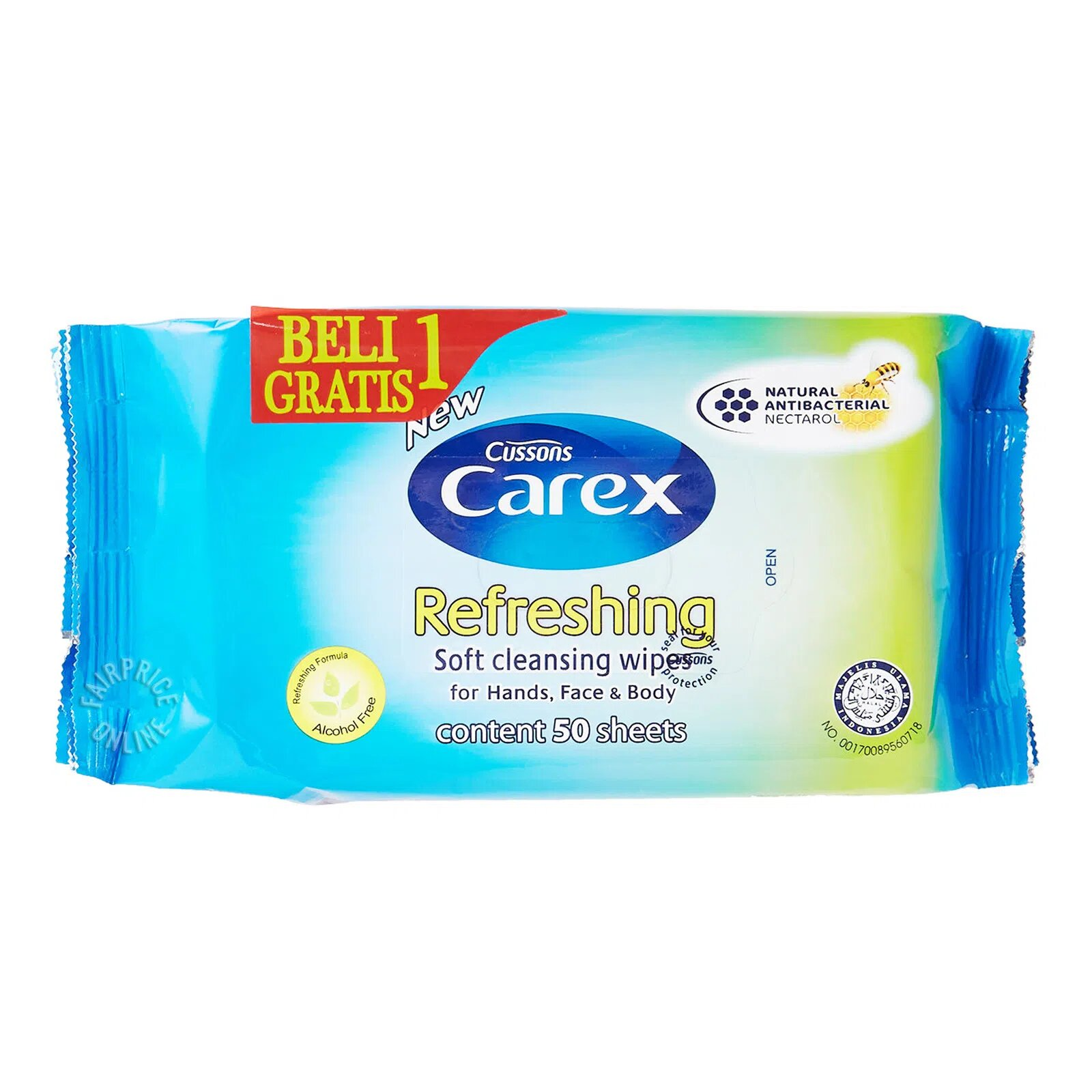 Cussons Carex Soft Cleansing Wipes - Refreshing