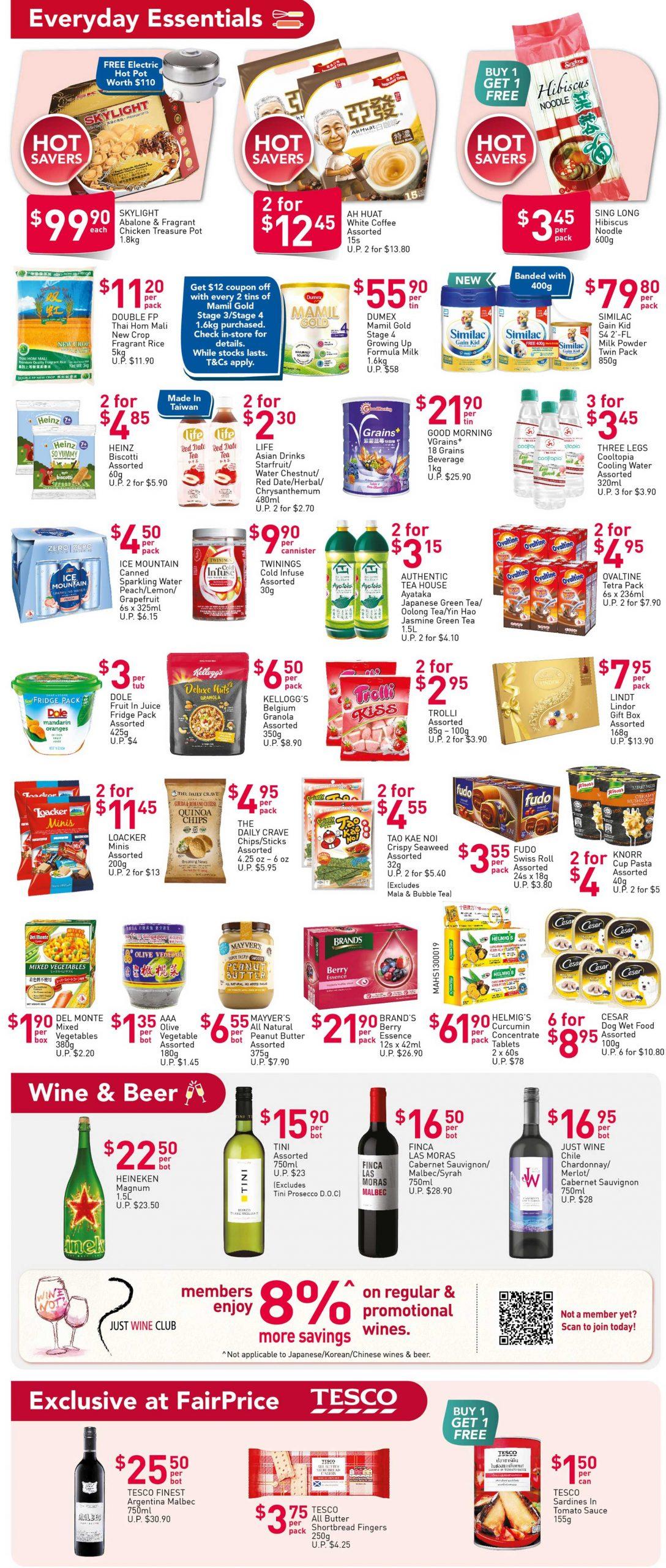 FairPrice's weekly saver deals till 16 December 2020