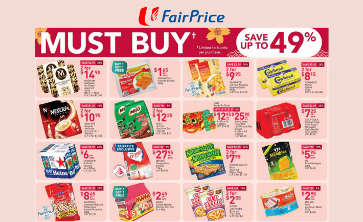 FairPrice Weekly Deals 31 December 2020
