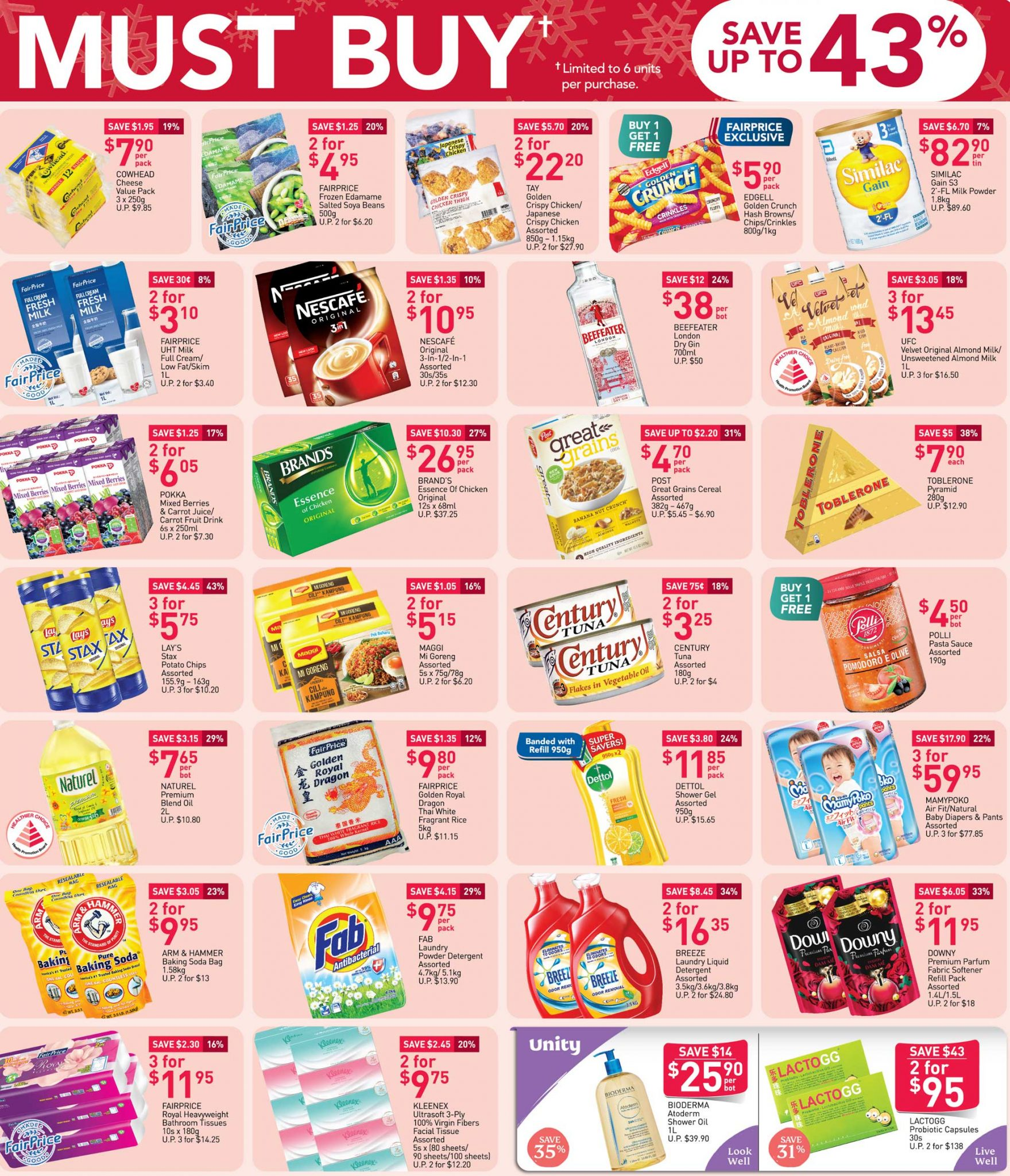 FairPrice must-buy items from now till 9 December 2020
