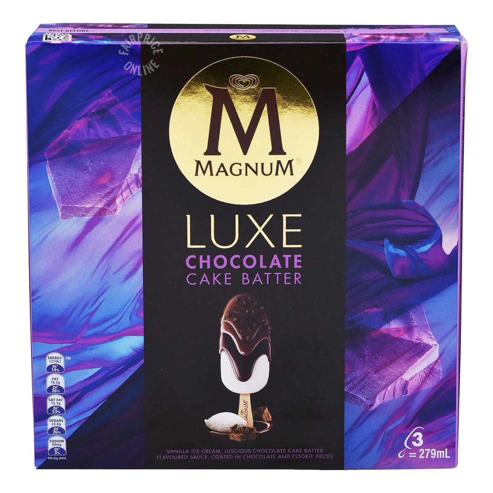 Magnum Luxe Ice Cream - Chocolate Cake Batter