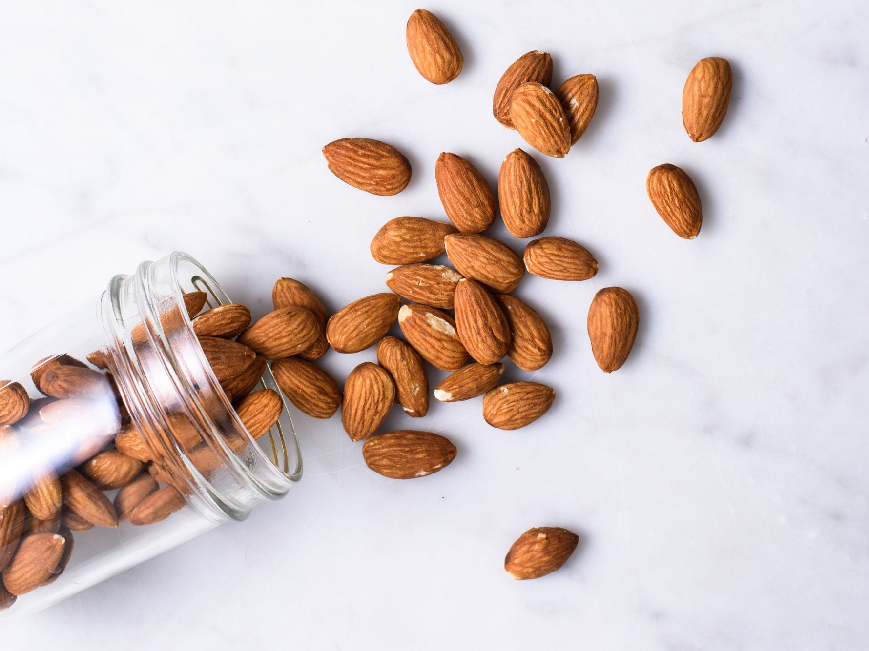 almond nuts from a jar