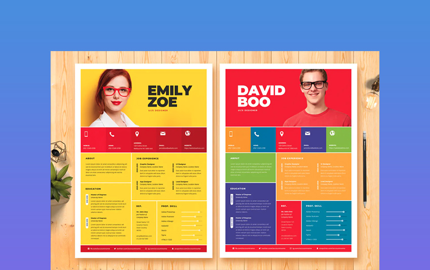 colourful resumes