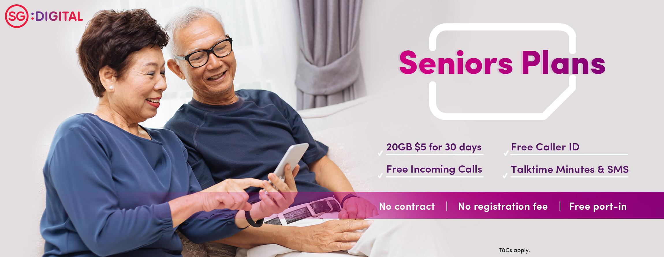 $5 for 20GB seniors data plan