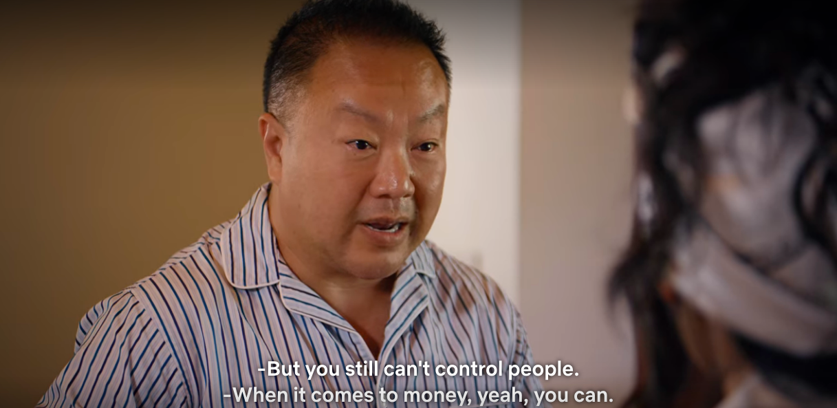 Ability to control people with money