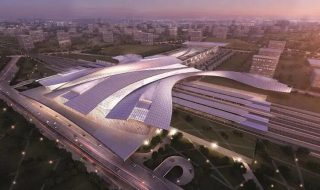 An artist's impression of a KL-Singapore High Speed Rail (HSR) station.