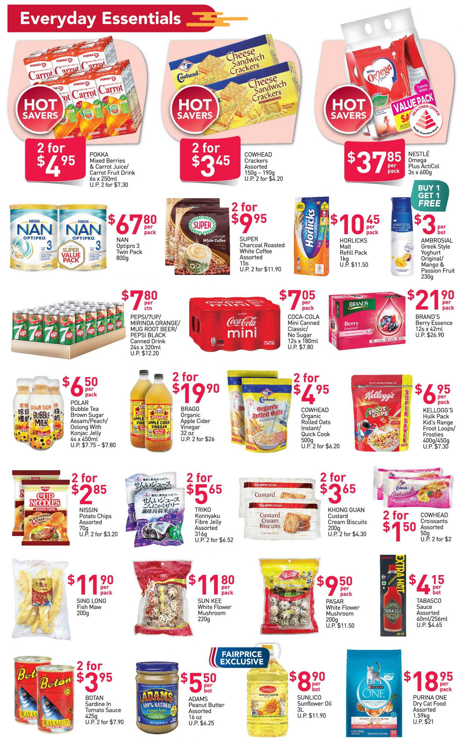 FairPrice's weekly saver deals till 20 January 2021
