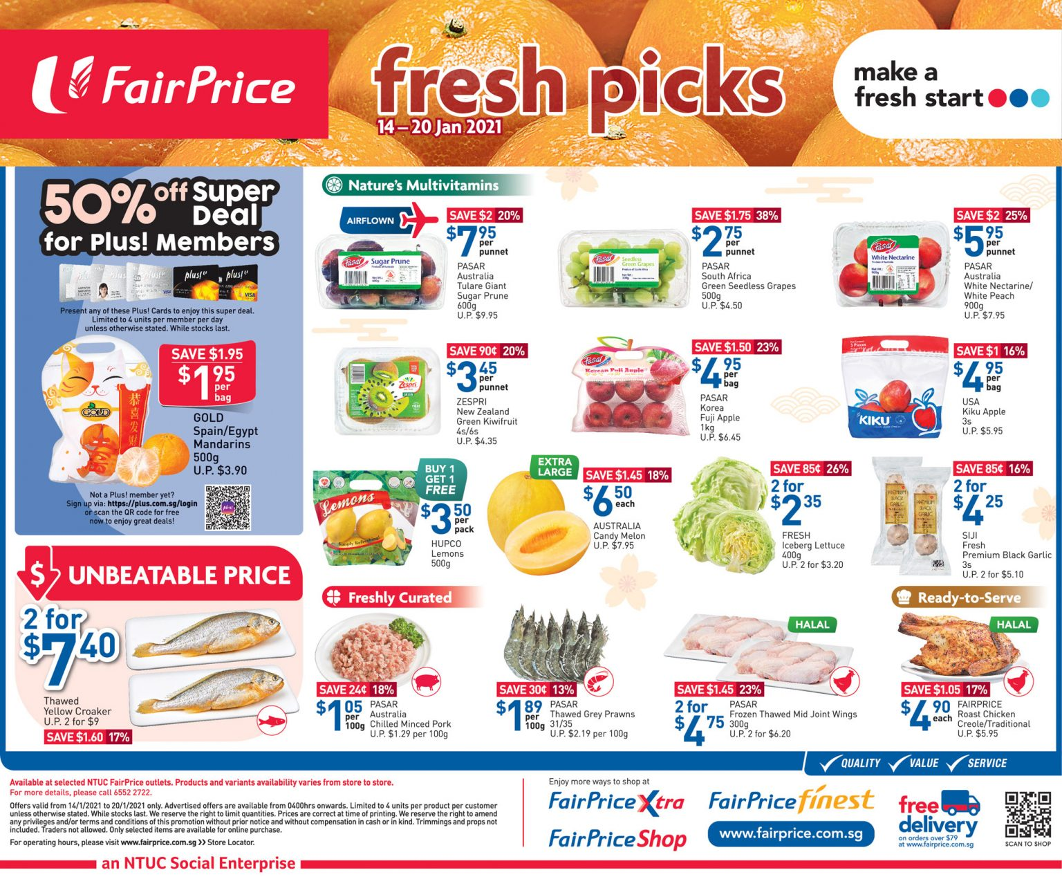 FairPrice's fresh picks till 20 January 2021