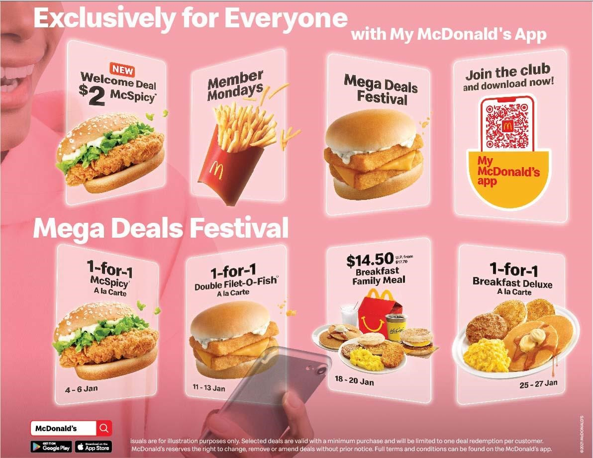 McDonald's offering 1-for-1 deals and more for the month of January 2021