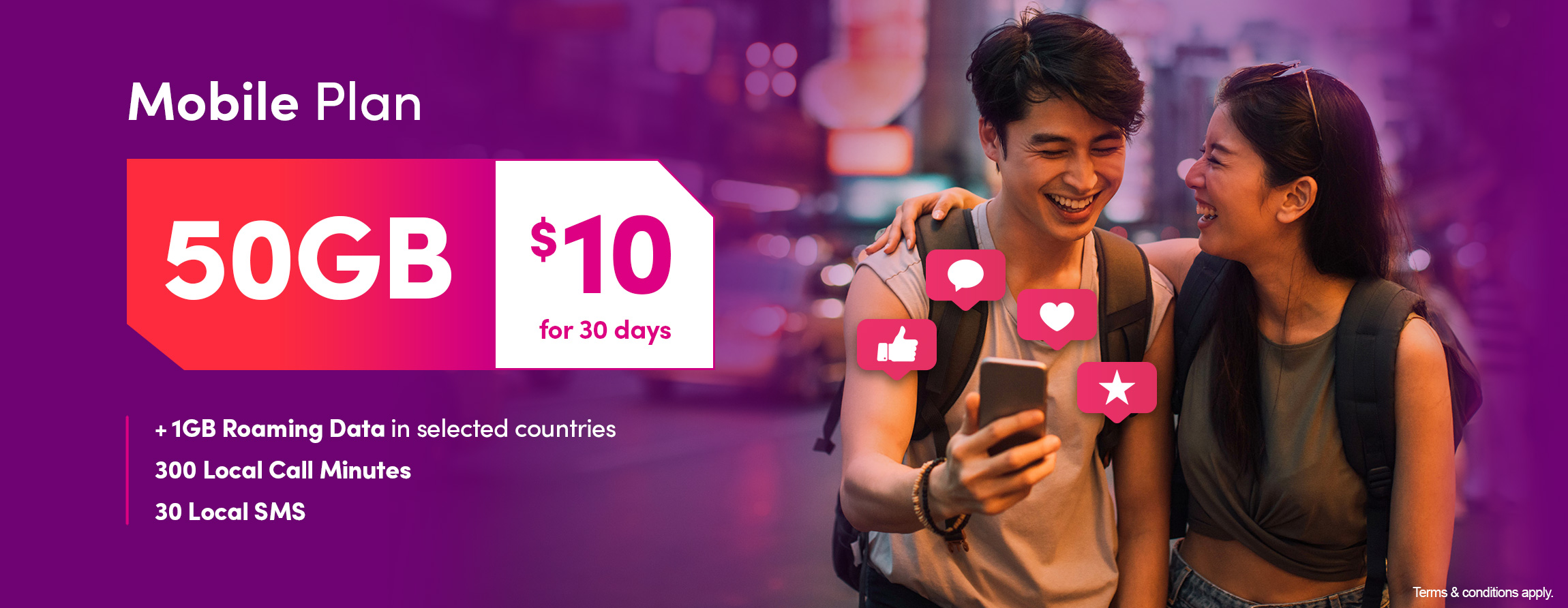 TPG Telecom $10 for 50GB SIM-only plan banner