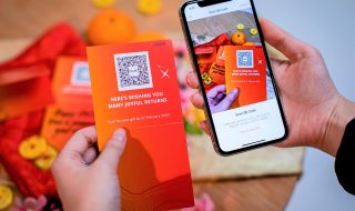 digital red packet via QR code