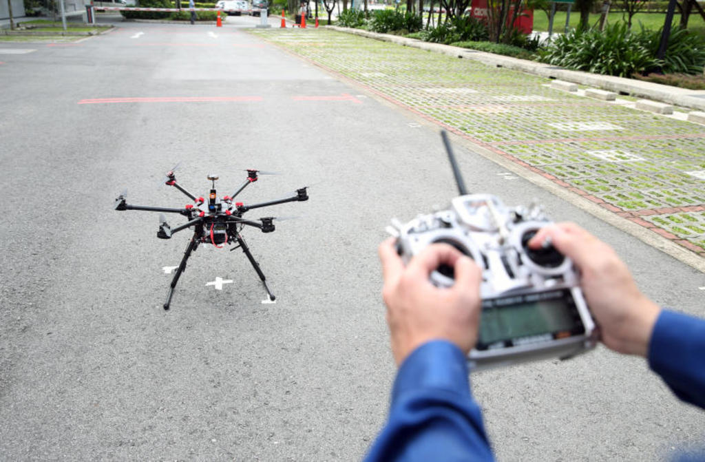 flying a drone in Singapore