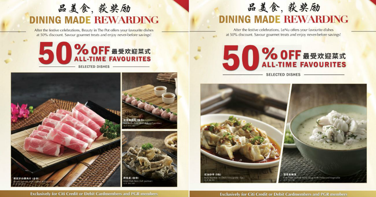 Paradise Group's Restaurants to Offer 50% Off Selected All-time Favourite Dishes