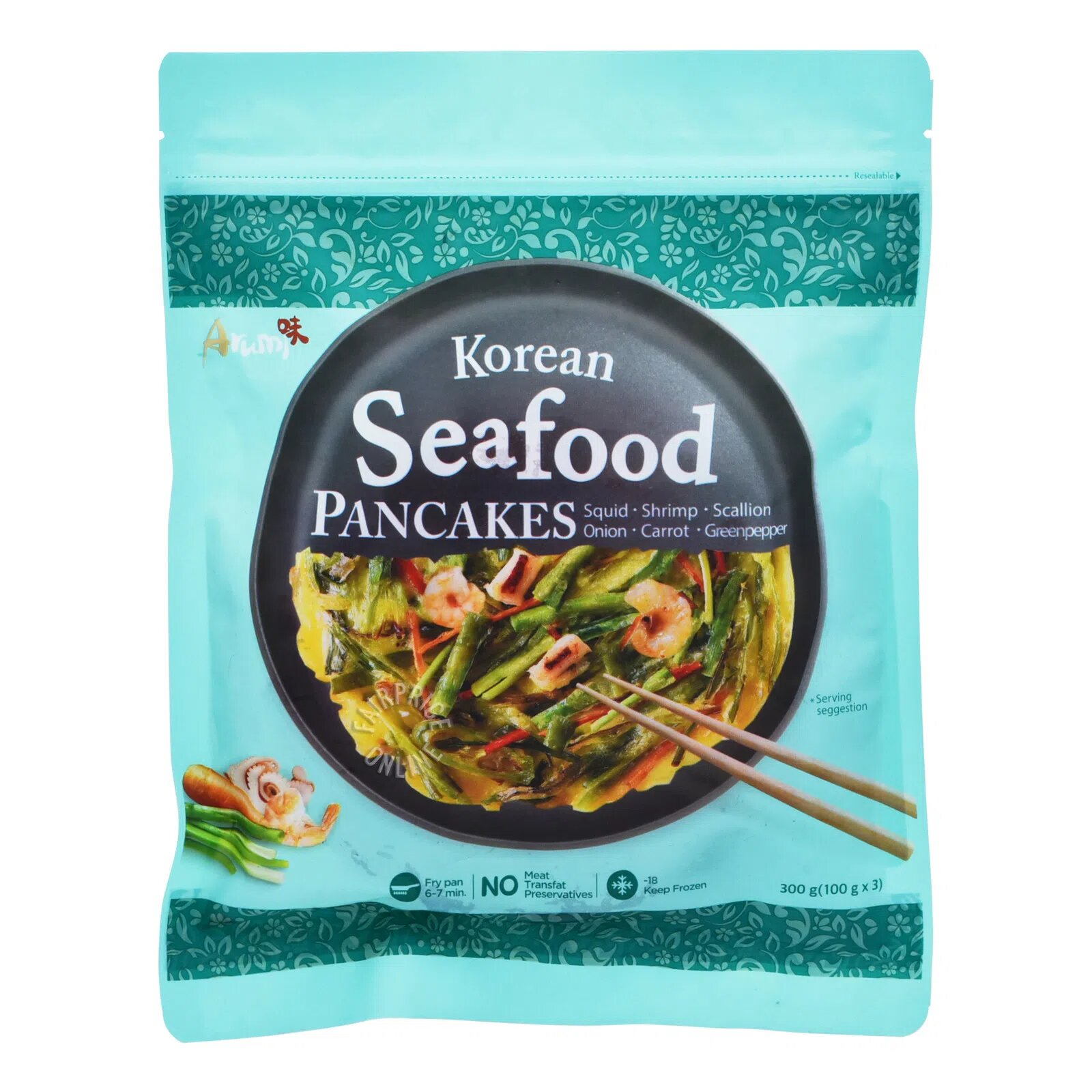 Arumi Frozen Korean Pancakes - Seafood