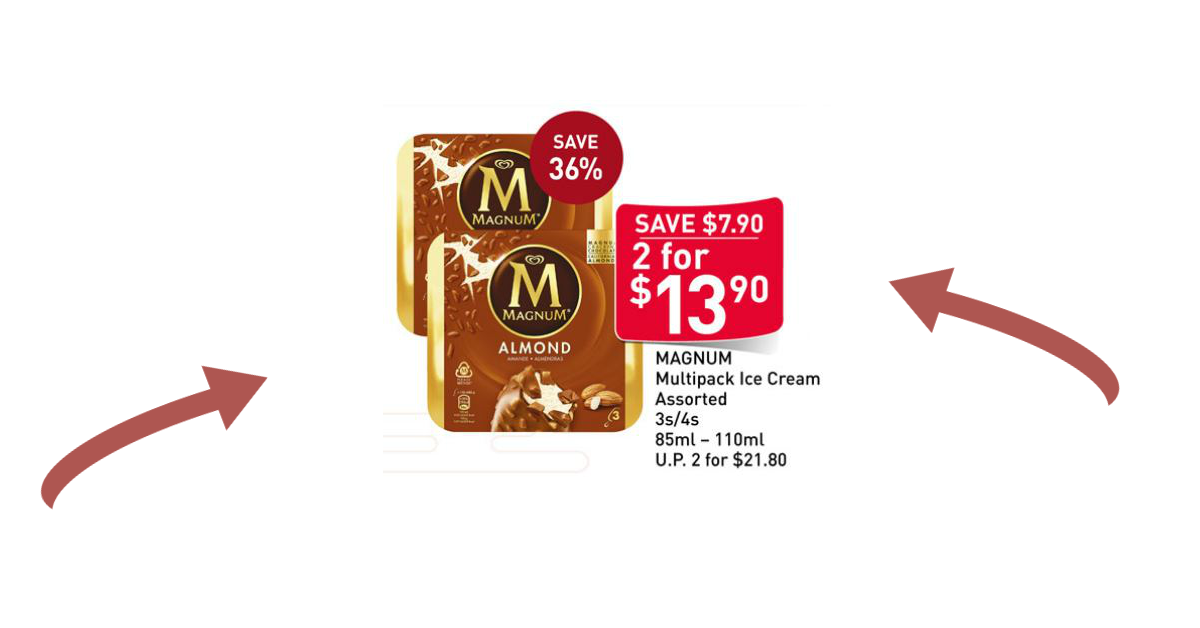 Magnum ice cream selling at 2 boxes for $13.90 (U.P. $21.80) at FairPrice and they are probably the cheapest you'll ever buy