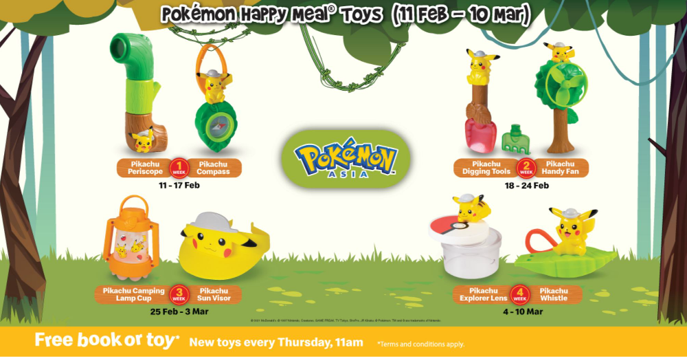 Pokémon Happy Meal® Toys now available at McDonald's S'pore, gotta catch em' all!