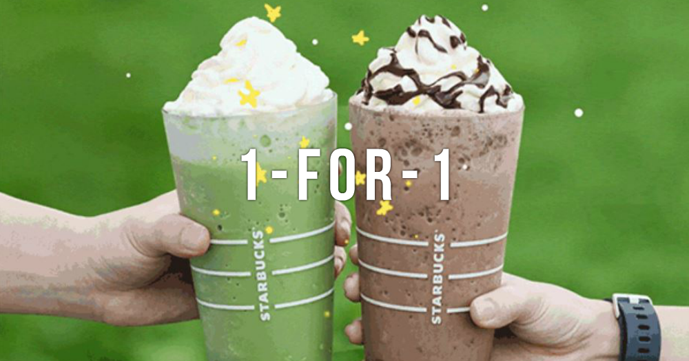 From 15 - 18 Feb, Starbucks Has 1-for-1 Choco Chip Frappuccino and more