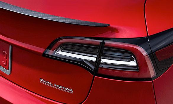 Tesla dual-motor label