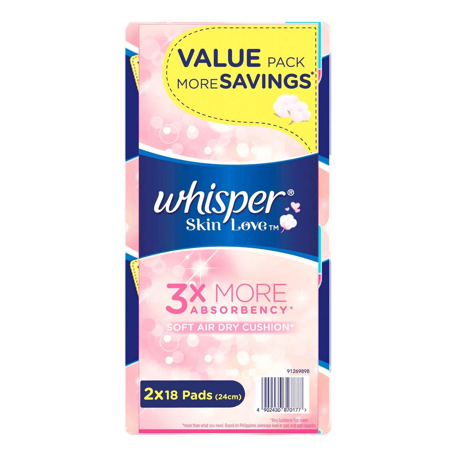 Whisper Ultra Slim Skin Love Pads - Light/Norm Day (24cm)