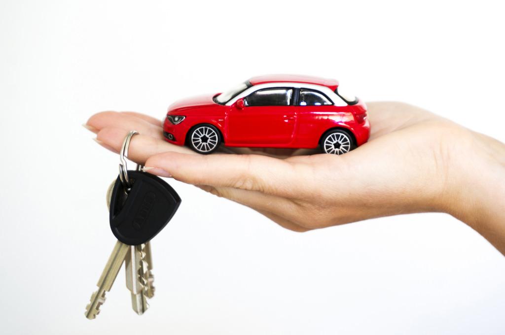 a toy car and car keys
