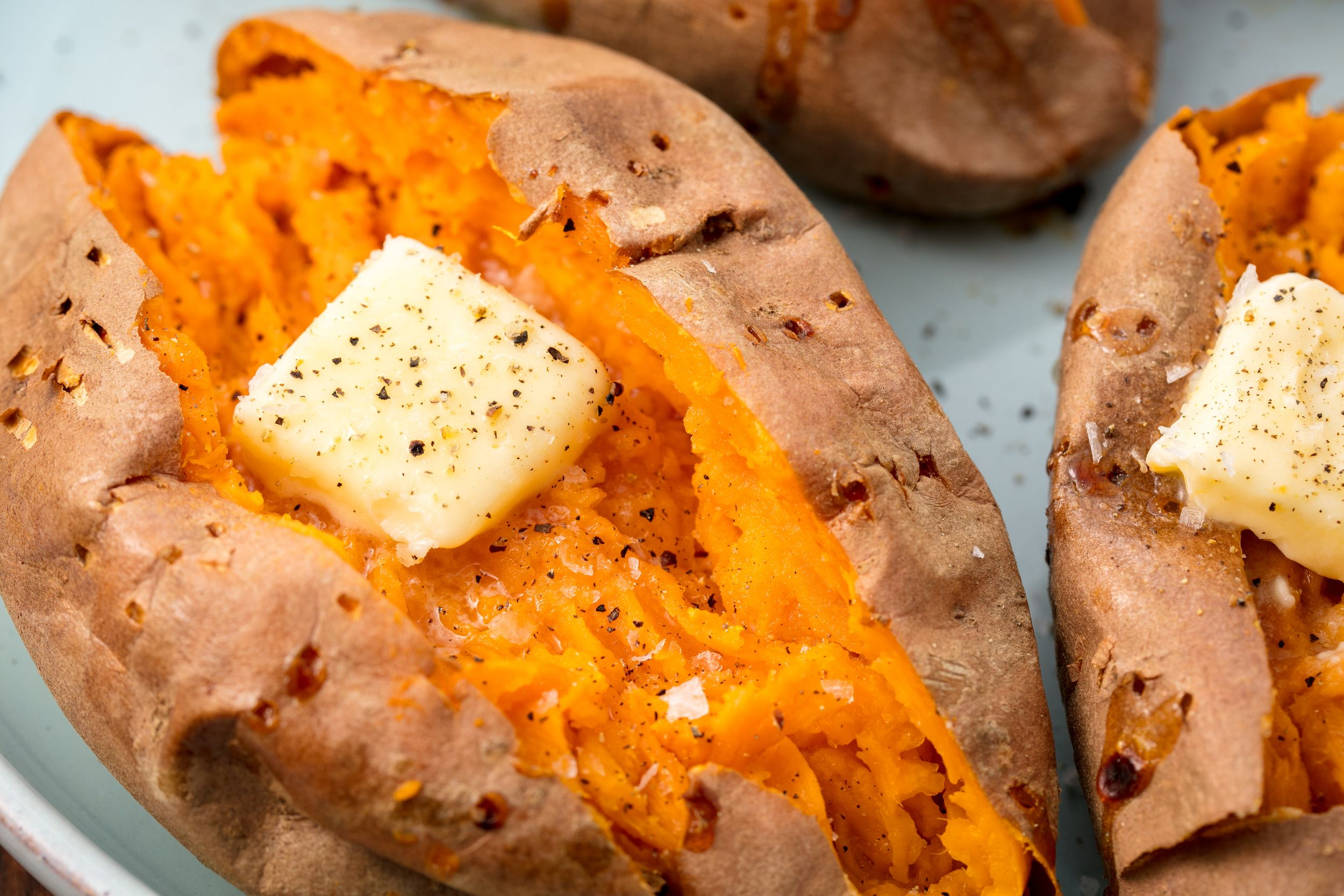 baked-sweet-potatoes-with-butter