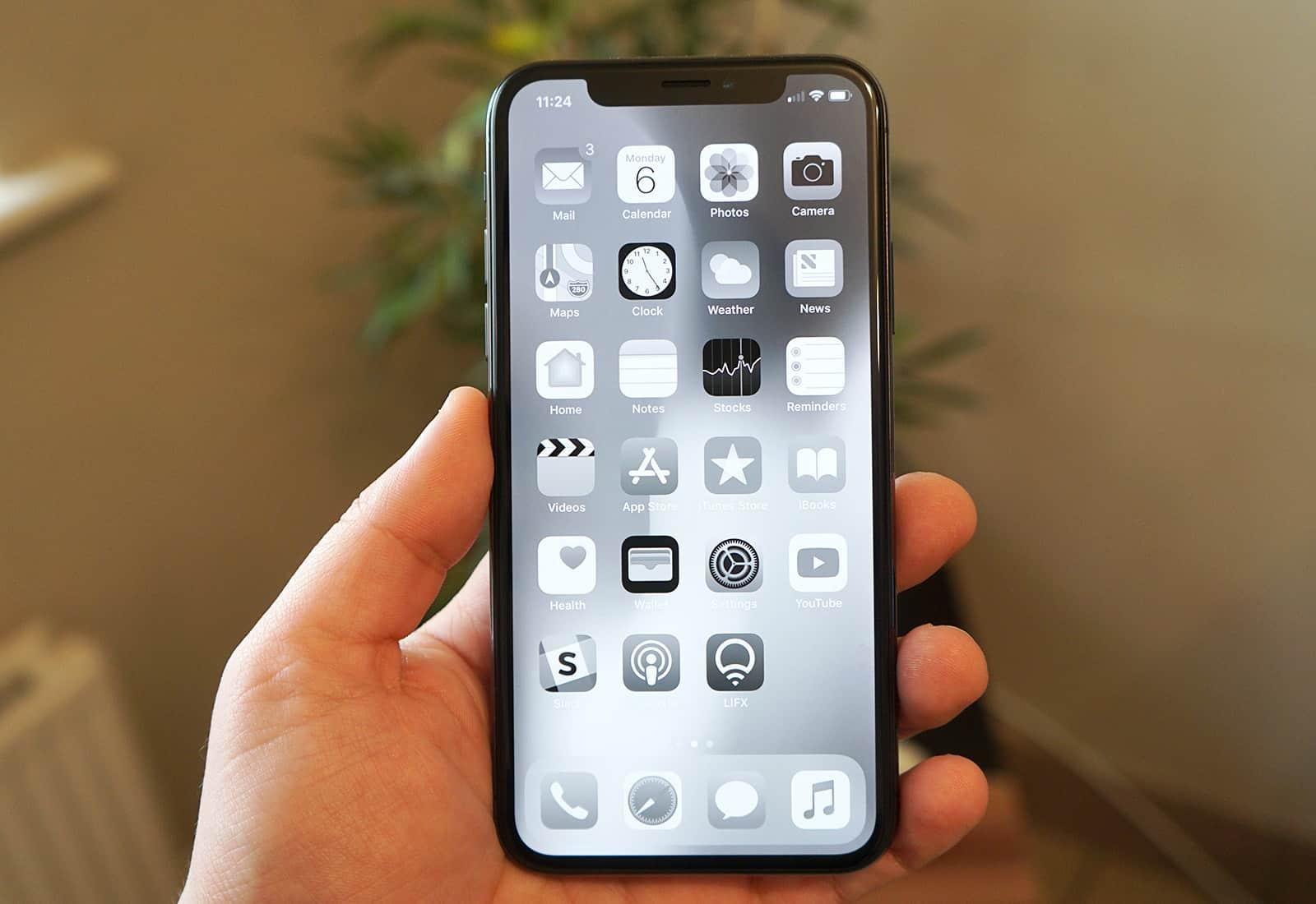 greyscale on iPhone