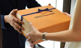 receiving a louis vuitton package