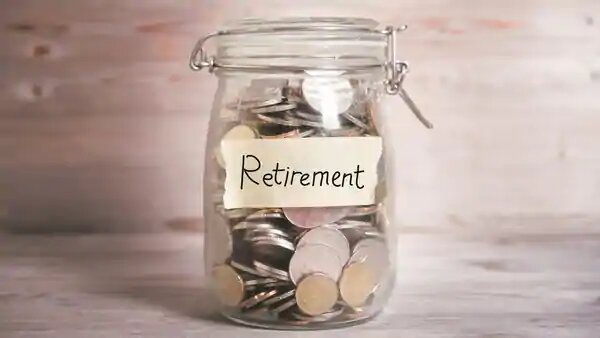 retirement savings in a coin jar