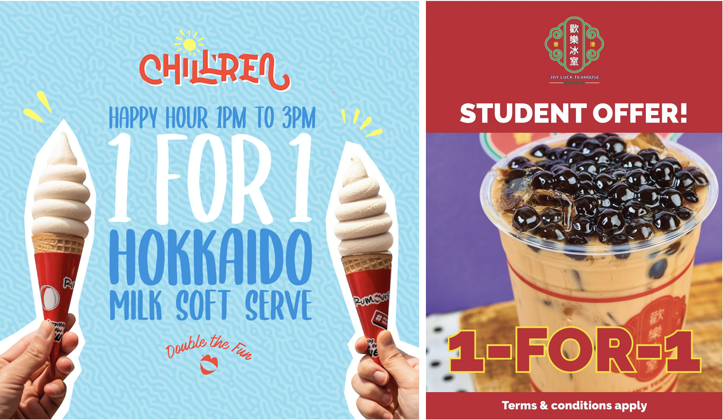 Top 12 School Holiday Promotions - FREE Waffles, 1-for-1 BBT & Hokkaido Milk Soft Serve, 50% OFF Pastas & Burgers!