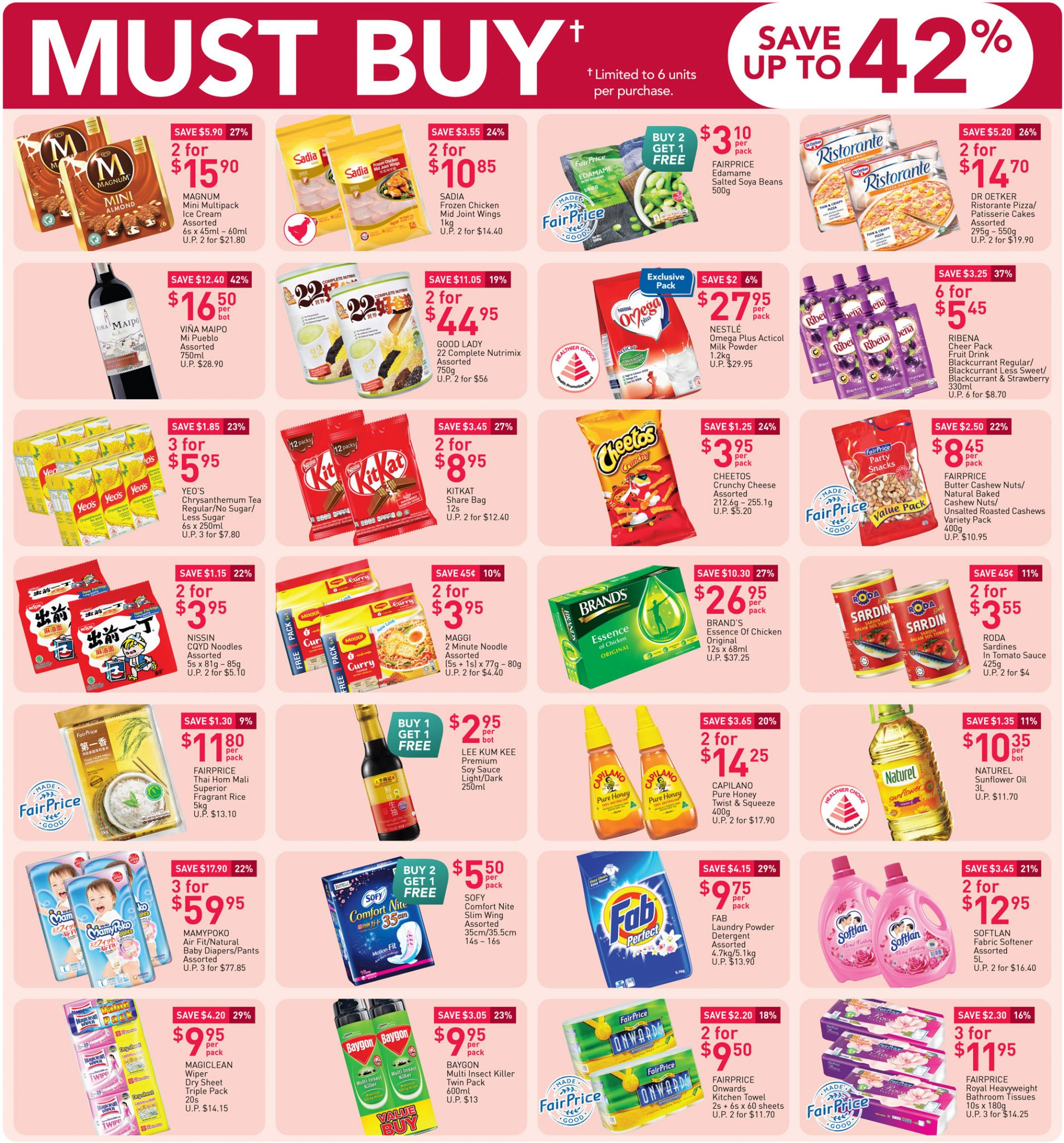 FairPrice's must-buy items from now till 10 March 2021