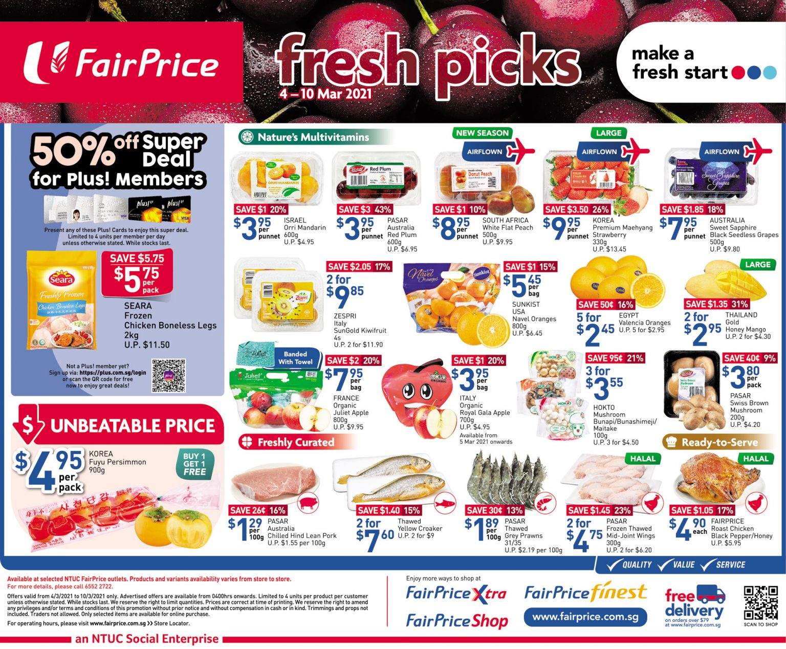 Fresh picks at FairPrice till 10 March 2021