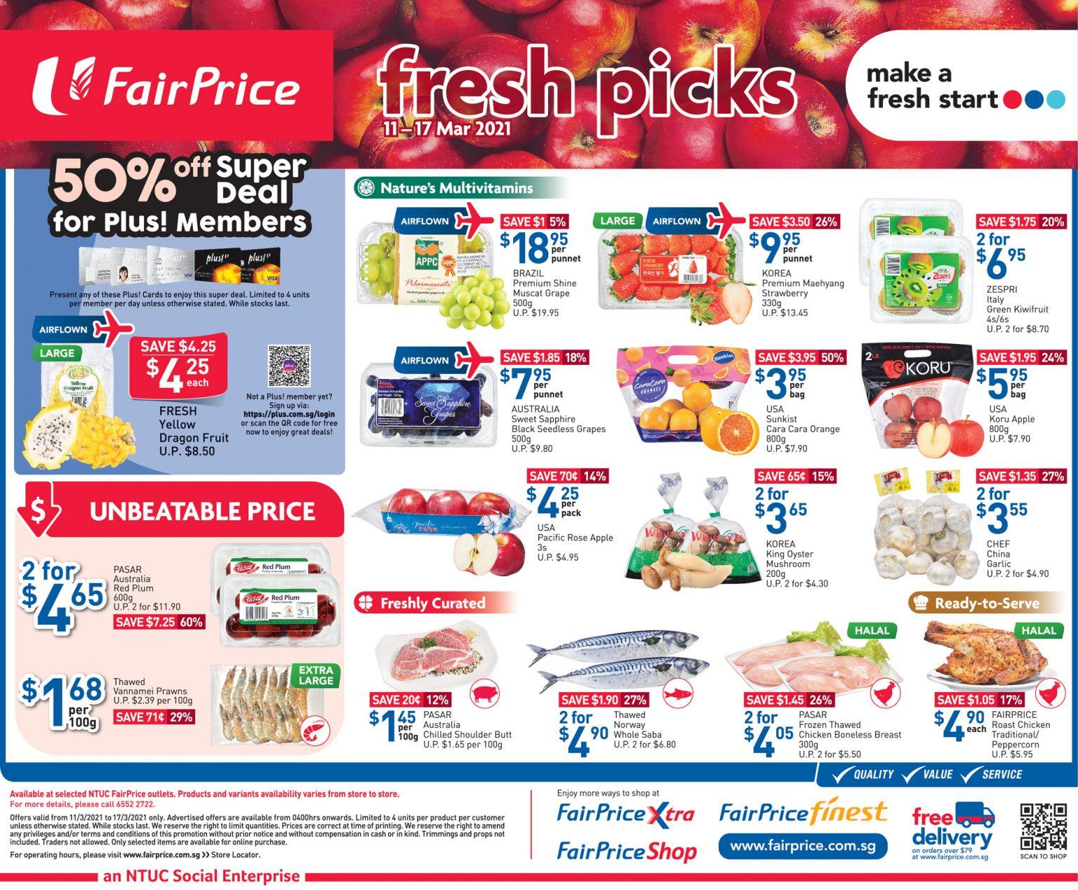 Fresh picks at FairPrice till 17 March 2021