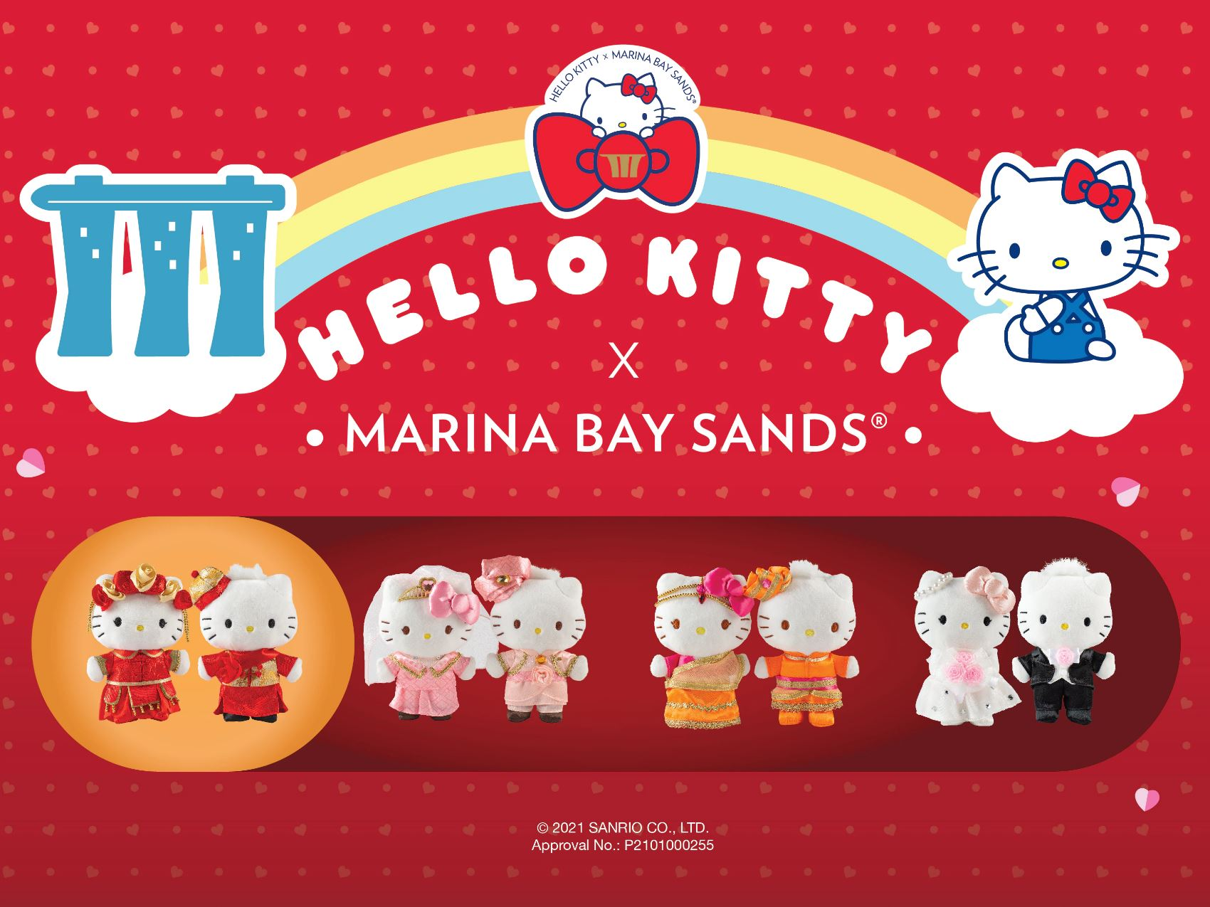 Limited Edition Hello Kitty Wedding Plush Sets Available At Marina Bay Sands From 1 Mar - 30 Jun 2021