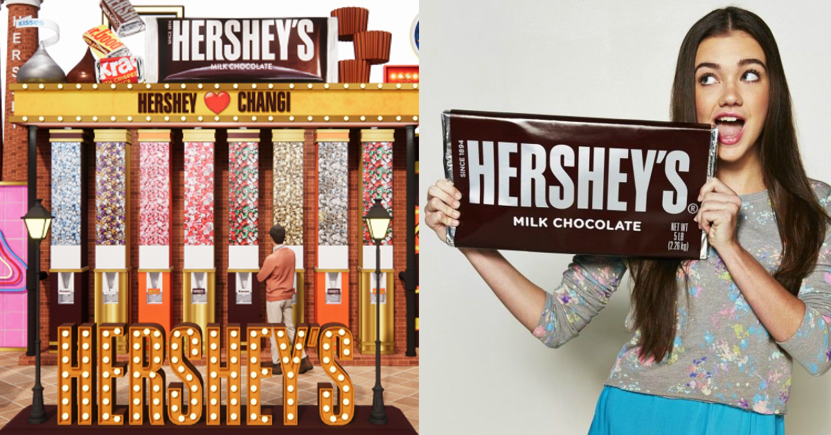 World's largest HERSHEY'S Milk Chocolate Bar, 3-metre tall HERSHEY'S Chocolate Machine and other giant HERSHEY'S installations at Changi Airport Terminal 3 from 12 Mar - 3 May 21